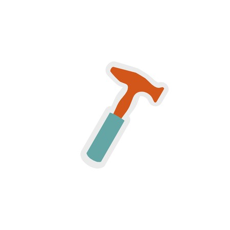 hammer icon 3D illustration