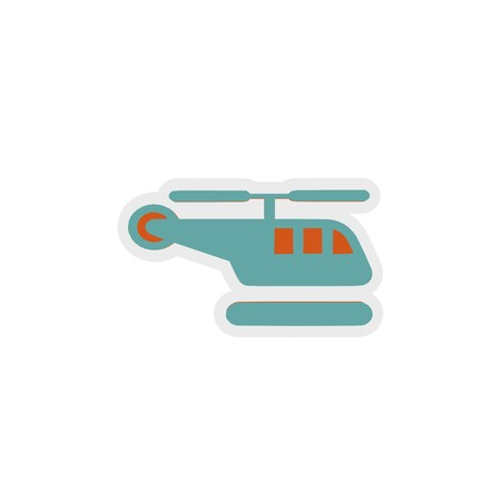 helicopter icon 3D illustration 写真素材