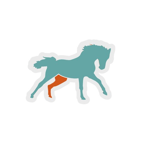 horse icon 3D illustration
