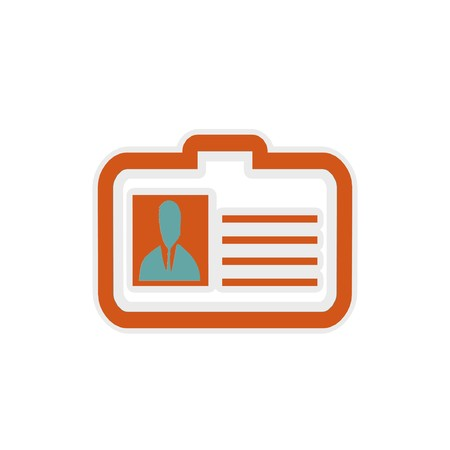 identity card icon 3D illustration