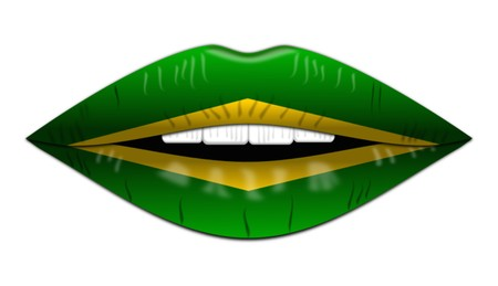 Brazilian flag,icon,sign,best 3D illustration