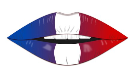 French flag,icon,sign,best 3D illustration
