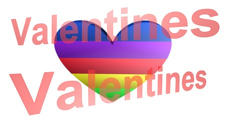 Valentines day,icon,sign,best 3D illustration 写真素材