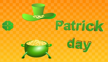 patricks day,icon,sign,best 3D illustration