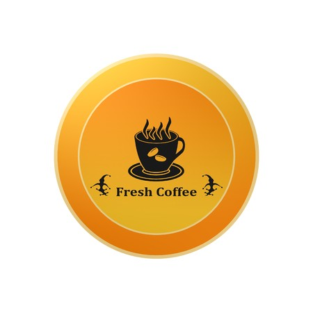coffee and tea,icon,sign,best 3D illustration 写真素材