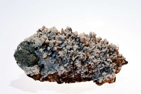 mineral markasit on the white background