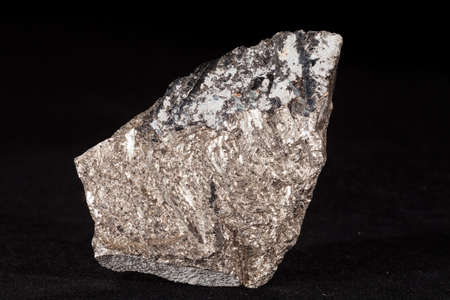 arsenopyrite mineral on the black background