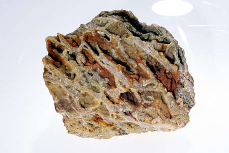 smithsonite mineral on the white background