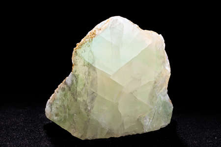 green fluorite from Bulgaria on the black background Stock Photo