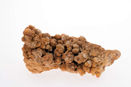 iron flower aragonit mineral on the white background Standard-Bild