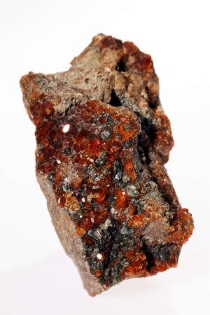 vanadinite mineral on the white background