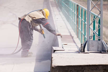 콘크리트의 발파, 얕은 피사계 심도 기록
