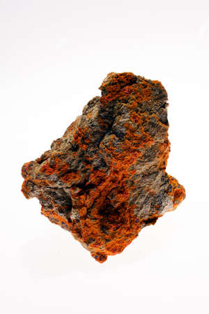 sulphide: sulphide mineral realgar on the white background