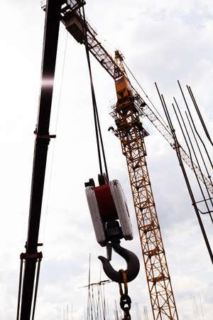 hook up: Crane hooks Stock Photo