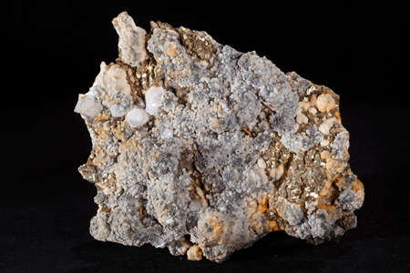 calcite mineral from the group of carbonate on the black background