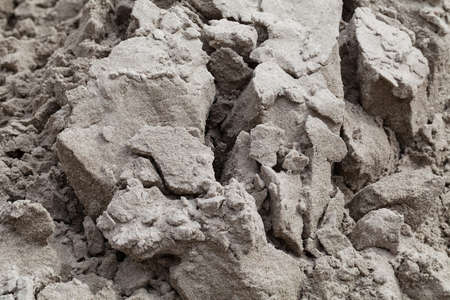 sand quarry: Construction sand near the site, note shallow depth of field
