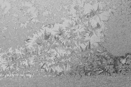 windows: frost patterns on glass, note shallow depth of field Stock Photo
