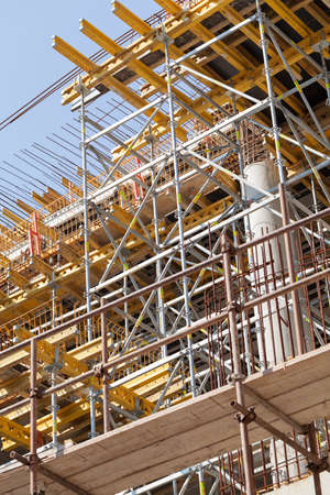 high tech: construction site with equipment and workers Stock Photo