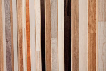 surface: Samples of laminate on the fair Stock Photo