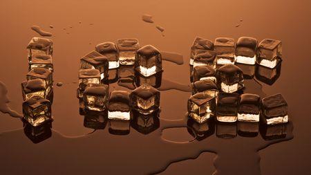 Chocolate Colored Ice Melting