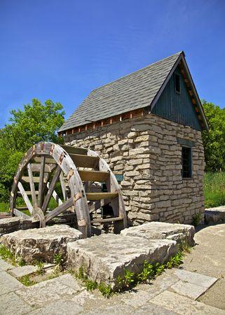 Old Paddle Wheel in Churchill Park Cambridge, Ontario, Canada Stock Photo - 7077402