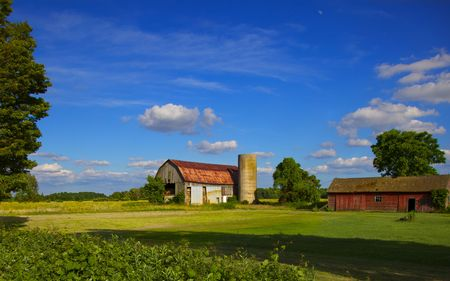 Early summer Ontario farm scene Stock Photo - 7231922