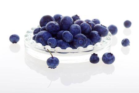Fresh Blueberries Isolated on White