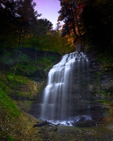 Dawn breaking over Tiffany Falls in Ancaster, Ontario