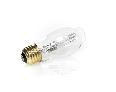electric bulb: Electric Light Bulb on White with Reflection