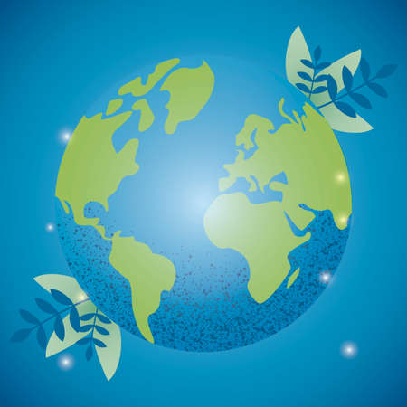 Ecology Background, earth, green world, blue planet