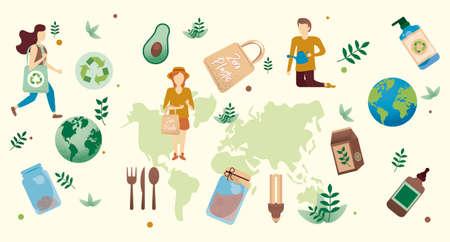 Ecology Background, earth, green world, set