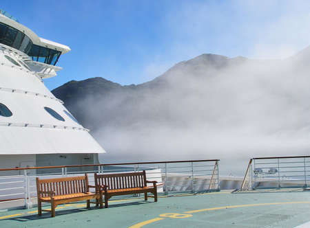Cruise ship Helicopter deck  写真素材