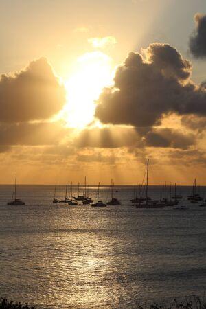 Sunset in Fernando de Noronha - Brazil Stock Photo