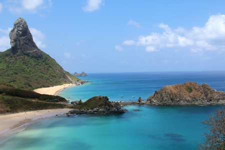 Beach Archipelago of Fernando Noronha Brazil Stock Photo