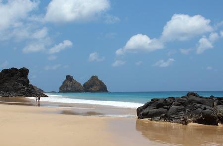Beach Archipelago of Fernando Noronha Brazil 免版税图像