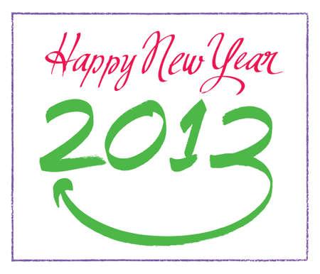 Illustration - Happy New Year - 2013