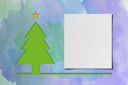 Christmas tree � watercolor 免版税图像