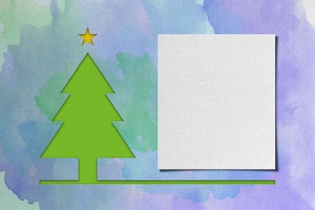 Christmas tree � watercolor Stock Photo