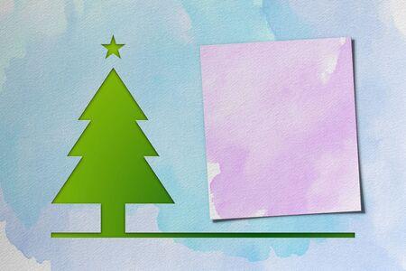 Christmas tree – watercolor