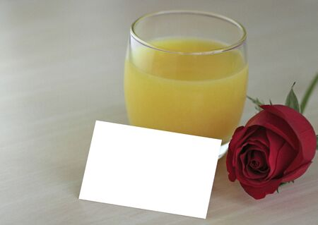 Orange juice - blank card