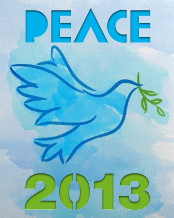 Dove � Symbol of Peace - 2013 Stock Photo - 16527361