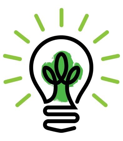 осветительное оборудование: Зеленый свет Иллюстрация