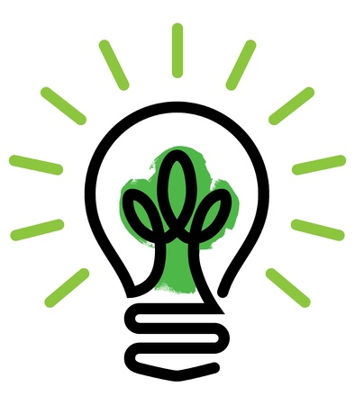 light bulb idea: Green Light Illustration
