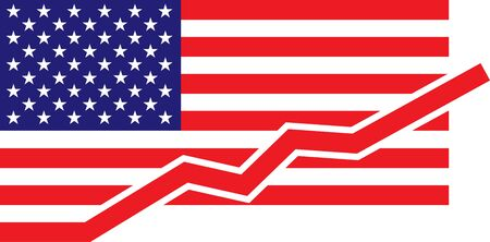American Flag – growth Stock Vector - 16565644