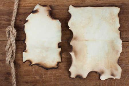 western border: Old Burnt Paper on Wood background