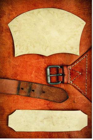 Vintage Leder strukturierten Hintergrund mit Papier Rahmen