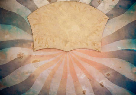 Sunburst retro paper background photo