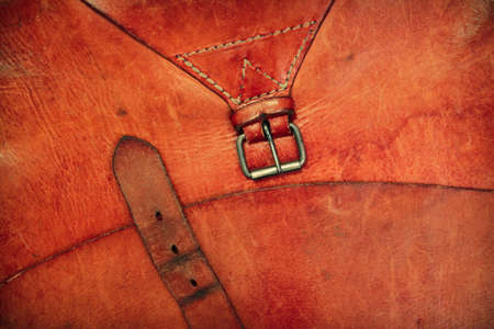 Leather vintage background with a buckle and frame Stock Photo - 13010366