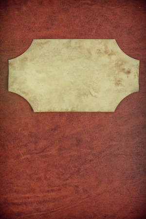 scrapbook cover: Vintage textured background with paper frame