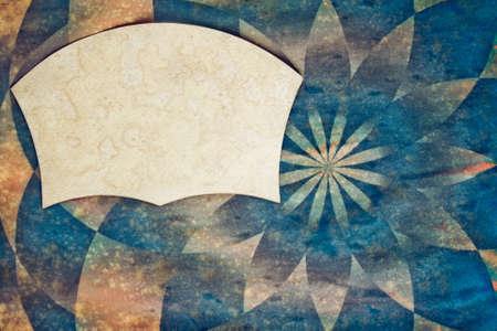 Sunburst retro paper background with grunge frame for text photo